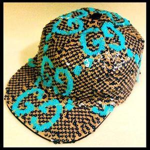 😍Gucci Sequin Runway Paillette Baseball Hat New😍